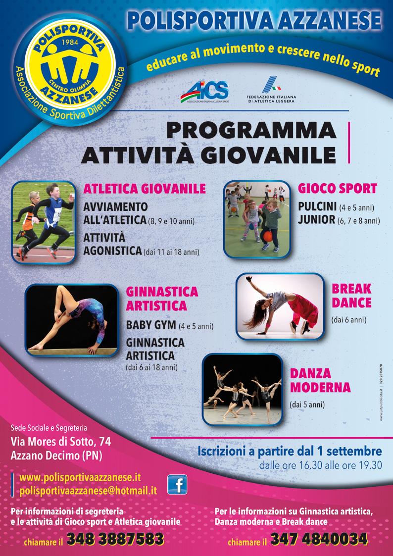 Programma attività giovanile 2017